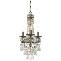 Crystorama 5263-EB-CL-MWP Mercer 4 Light 11 inch English Bronze Mini Chandelier Ceiling Light in English Bronze (EB)