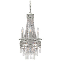 Crystorama Mercer 4 Light Mini Chandelier in Olde Silver 5263-OS-CL-MWP