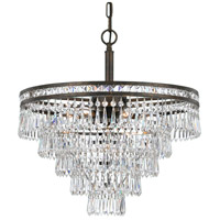 Crystorama Mercer 6 Light Convertible Chandelier in English Bronze 5264-EB-CL-MWP