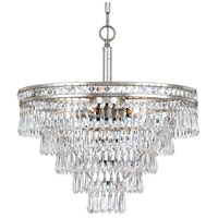 Crystorama Mercer 6 Light Convertible Chandelier in Olde Silver 5264-OS-CL-MWP