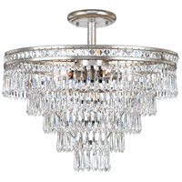 Crystorama 5264-OS-CL-MWP_CEILING Mercer 6 Light 20 inch Olde Silver Semi Flush Mount Ceiling Light in Olde Silver (OS)
