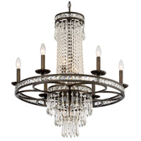 Crystorama Mercer 10 Light Chandelier in English Bronze with Hand Cut Crystals 5266-EB-CL-MWP