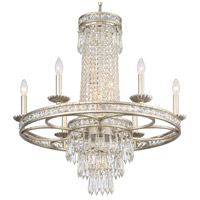 Crystorama 5266-OS-CL-MWP Mercer 10 Light 27 inch Olde Silver Chandelier Ceiling Light in Olde Silver (OS)