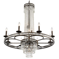 Crystorama Mercer 11 Light Chandelier in English Bronze with Hand Cut Crystals 5268-EB-CL-MWP