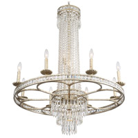 Crystorama 5268-OS-CL-MWP Mercer 12 Light 36 inch Olde Silver Chandelier Ceiling Light in Olde Silver (OS), 8