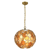 Crystorama Palla 1 Light Chandelier in Antique Gold Leaf with Hand Cut Crystals 527-GA