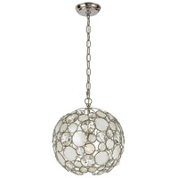 Crystorama 527-SA Palla 1 Light 13 inch Antique Silver Mini Chandelier Ceiling Light alternative photo thumbnail