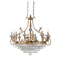 Crystorama Regal 12 Light Island Light in Aged Brass with Hand Cut Crystals 5279-AG-CL-MWP