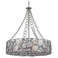 Crystorama Palla 8 Light Chandelier in Antique Silver 528-SA