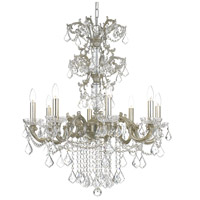 Highland Park 8 Light 28 inch Olde Silver Chandelier Ceiling Light in Clear Hand Cut