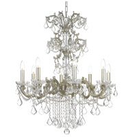Crystorama 5288-OS-CL-S Highland Park 8 Light 28 inch Olde Silver Chandelier Ceiling Light in Clear Swarovski Strass
