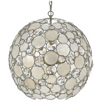 Palla 6 Light 22 inch Antique Silver Chandelier Ceiling Light in Hand Cut, Antique Silver (SA)