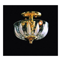 Crystorama Signature Vanity Light in Polished Brass 53-PB