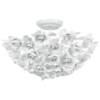 Cypress 3 Light 18 inch Wet White Semi Flush Mount Ceiling Light
