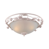 Crystorama Paris Flea Market 3 Light Semi-Flush Mount in Blush 5300-BH