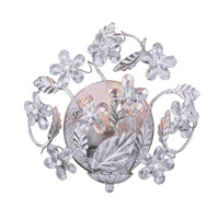 Crystorama Abbie 2 Light Wall Sconce in Antique White with Hand Polished Crystals 5302-AW