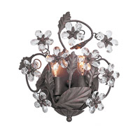 Crystorama Abbie 2 Light Wall Sconce in Dark Rust with Hand Polished Crystals 5302-DR
