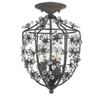 Crystorama Lighting Abbie 3 Light Flush Mount in Dark Rust & Hand Polished 5303-DR_FLUSH photo thumbnail