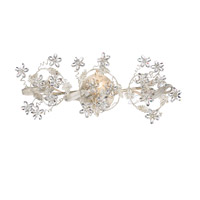 Crystorama Abbie 3 Light Bath Light in Antique White with Hand Polished Crystals 5304-AW