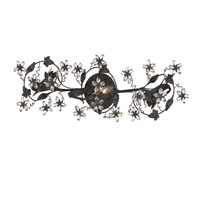 Crystorama Abbie 3 Light Bath Light in Dark Rust with Hand Polished Crystals 5304-DR