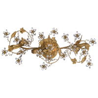 Crystorama Abbie 3 Light Bath Light in Gold Leaf with Hand Polished Crystals 5304-GL