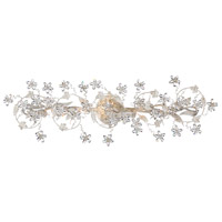 Crystorama Abbie 5 Light Bath Light in Antique White with Hand Polished Crystals 5307-AW