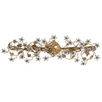 Crystorama Abbie 5 Light Bath Light in Gold Leaf with Hand Polished Crystals 5307-GL