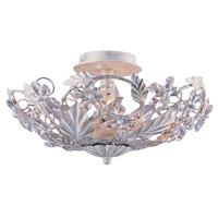 Crystorama Abbie 6 Light Semi-Flush Mount in Antique White with Hand Polished Crystals 5316-AW