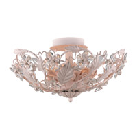 Crystorama Abbie 6 Light Semi-Flush Mount in Blush with Hand Polished Crystals 5316-BH