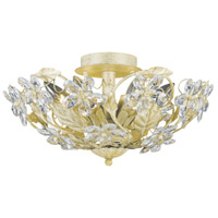 Crystorama Abbie 6 Light Semi-Flush Mount in Champagne with Hand Cut Crystals 5316-CM