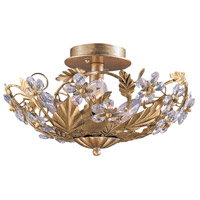 Crystorama Abbie 6 Light Semi-Flush Mount in Gold Leaf with Hand Polished Crystals 5316-GL