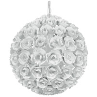 Crystorama Cypress 1 Light Chandelier in Wet White 537-WW