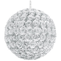 Cypress 5 Light 20 inch Wet White Chandelier Ceiling Light