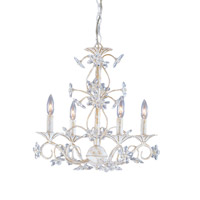 Crystorama Abbie 4 Light Chandelier in Antique White with Hand Polished Crystals 5404-AW