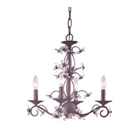 Crystorama Abbie 4 Light Chandelier in Dark Rust with Hand Polished Crystals 5404-DR