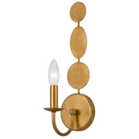 Crystorama 541-GA Layla 1 Light 4 inch Antique Gold Wall Sconce Wall Light in Antique Gold (GA), 4.25-in Width