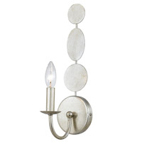 Crystorama Layla 1 Light Wall Sconce in Antique Silver 541-SA