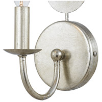 Crystorama 541-SA Layla 1 Light 4 inch Antique Silver Wall Sconce Wall Light in Antique Silver (SA), 4.13-in Width alternative photo thumbnail