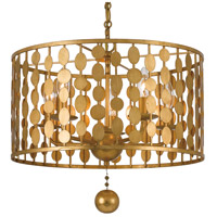 Crystorama Layla 5 Light Chandelier in Antique Gold 545-GA