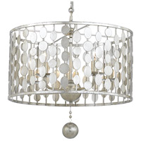 Crystorama 545-SA Layla 5 Light 18 inch Antique Silver Chandelier Ceiling Light in Antique Silver (SA)