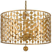Crystorama Layla 6 Light Chandelier in Antique Gold 546-GA