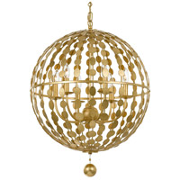 Crystorama 547-GA Layla 6 Light 22 inch Antique Gold Chandelier Ceiling Light in Antique Gold (GA)