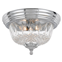Crystorama 55-F-CH Signature 2 Light 13 inch Polished Chrome Semi Flush Mount Ceiling Light