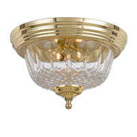 Signature 2 Light 12 inch Polished Brass Flush Mount Ceiling Light in Polished Brass (PB)