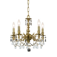 Crystorama Mirabella 5 Light Mini Chandelier in Aged Brass 5505-AG-CL-MWP