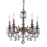 Crystorama Mirabella 5 Light Mini Chandelier in Aged Brass 5505-AG-GT-MWP
