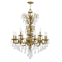 Crystorama Mirabella 12 Light Chandelier in Aged Brass 5512-AG-CL-S photo thumbnail