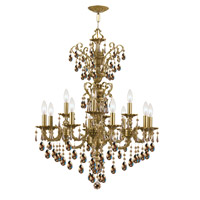 Crystorama Mirabella 12 Light Chandelier in Aged Brass 5512-AG-GTS photo thumbnail