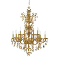 Crystorama Mirabella 12 Light Chandelier in Olde Brass 5512-OB-GTS photo thumbnail