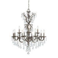 Crystorama Mirabella 12 Light Chandelier in Pewter with Swarovski Spectra Crystals 5512-PW-CL-SAQ